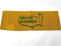 FROM THE 50S MASTERS TOURNAMENT CANVAS SIGN FROM BACK OF DIRECTORS CHAIR