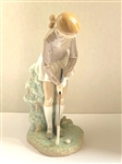 LADY GOLFER LLADRO, YEAR ISSUED 1973 AND RETIRED IN 1991. HEIGHT 11.25""