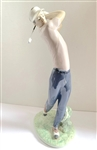 "LLADRO FIGURINE OF MALE GOLFER ""ON THE GREEN"" - 16"" TALL, RETIRED"