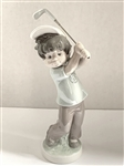 "LLADRO GOLFING FIGURINE ""BILLY"" PRODUCED IN 1978. HEIGHT 9.5"""