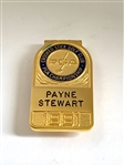 PAYNE STEWART, 1991 BADGE/MONEY CLIP FROM CROOKED STICK GOLF CLUB, PGA CHAMPIONSHIP