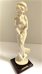 "RARE GIUSEPPE ARMANI CAPODIMONTE, LADY PLAYS GOLF - 10"" TALL. DATED 1973 AND MADE IN ITALY"