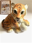 "BOEHM PORCELAIN FIGURE ""TIGER ON THE 19TH HOLE"" DEDICATED TO TIGER WOODS 5"" X 5"" WITH COA"