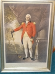 "1812 ORIGINAL ENGRAVING "" PROOF"" OF HENRY CALLENDER, ESQ. - ONE OF THE EARLIEST GOLF ENGRAVINGS"