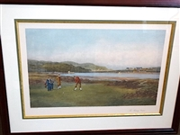 "EARLY RESTRIKE PRINT OF DOUGLAS ADAMS "" THE PUTTING GREEN"" PUBLISHED IN 1894"