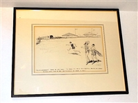 HARVIE WARD PERSONAL COLLECTION OF FRAMED ORIGINAL DRAWINGS SIGNED BY A.T.. SMITH