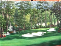 "ORIGINAL OIL PAINTING OF AUGUSTA NATIONAL GOLF CLUB OF 10TH HOLE- SIZE 24"" X 36"""