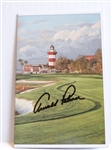 ARNOLD PALMER SIGNED SCORECARD FROM HARBOR TOWN, THE HERITAGE CLASSIC WIN IN 1969 ITS FIRST YEAR