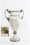 "PERMANENT 20"" HISTORICAL SILVER TROPHY FROM THE INVERNESS INVITATIONAL, DATED 1935-1951. INCLUDES HALL OF FAME PLAYERS."
