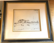 ORIGINAL ETCHING CIRCA 1900 OF ST. ANDREWS BY JOHN RANKINE BARCLAY, SIGNED BY THE ARTIST