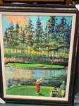 "JACK NICKLAUS SIGNED SERIGRAPH, JACK AT TPC, BY MALCOLM FARLEY. FRAMED SIZE 36"" X 44"""