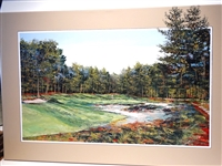 ORIGINAL ACRYLIC PAINTING ON CANVAS OF 7TH HOLE AT PINEHURST No.2 THOMAS LEGAULT