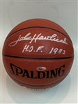 JOHN HAVLICEK BOSTON CELTICS AUTOGRAPHED SPALDING BASKETBALL WITH HOLOGRAM CERTIFICATION