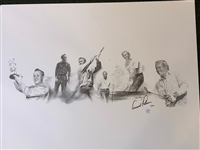 SIGNED BY ARNOLD PALMER HIS OFFICIAL LIMITED EDITION PRINT WITH OFFICIAL HOLOGRAM