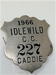 1966 CADDY BADGE FROM IDLEWILD C.C. #227