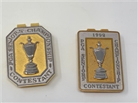SET OF TWO CONTESTANT BADGES FROM SENIORS PGA CHAMPIONSHIP
