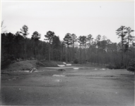 "1930s ICONIC PHOTOGRAPH OF THE 12TH HOLE AT AUGSTA NATIONAL GOLF CLUB. SIZE 16"" X 20"""