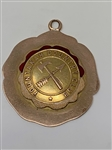 1909 SOLID GOLD MEDAL FROM YOUNTAKAH COUNTRY CLUB, NEW JERSEY. WINNER, P.E. MANN