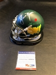 JACK NICKLAUS SIGNED MASTERS MINI HELMET WITH LOGO AND CERTIFICATE FROM PSA/DNA