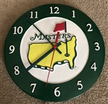 "2010 MASTERS TOURNAMENT LOGO QUARTZ WALL CLOCK, NEW. SIZE 11"" IN DIAMETER"