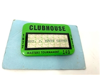 1977 CLUBHOUSE MASTERS TOURNAMENT BADGE FROM EDWIN CARTER COLLECTION, PGA TOURNAMENT DIRECTOR