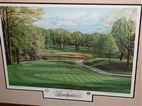 MEDINAH 13TH HOLE, COURSE No.3 FINE ART PRINT BY LINDA HARTOUGH, LET. ED. SIGNED. (SOLD OUT EDT.)