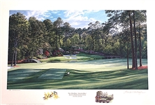 "AUGUSTA NATIONAL GC, 12TH HOLE ""GOLDEN BELL"" BY LINDA HARTOUGH. LTD.ED.#722/950, SIGNED."