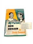 SIGNED FIRST ED. 1954 BOOK BY JIMMY DEMARET HIS BOOK MY PARTNER, BEN HOGAN""
