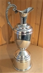 "CLARET JUG TROPHY MODELED AFTER THE OPEN CHAMPIONSHIP CLARET JUG, PEWTER. SIZE 12""H"