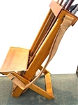ANTIQUE PATENTED MORELAND WOOD & CANVAS CLUB CARRIER WITH FOLDING CHAIR -EARLY 1900S