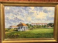 TURNBERRY THE AILSA COURSE ORIGINAL OIL PAINTING BY LEGENDARY BRITISH ARTIST, JOHN SUTTON 1935