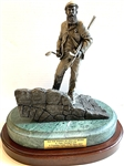 "SOLID BRONZE STATUE OF ""OLD TOM MORRIS, KEEPER OF THE GREEN"" ON MARBLE BASE. SIGNED BY MICHAEL ROCHE, 1991. SOLD OUT."