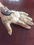 ARNOLD PALMERS SIGNED GAME USED PERSONAL GOLF GLOVE WITH PROVENANCE