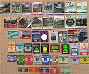 46 MASTERS BADGES OF CONSECUTIVE YEARS FROM 1974-2019, ALL PINS ATTACHED