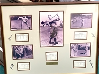 "BEN HOGAN, GENE SARAZEN, JACK NICKLAUS AND GARY PLAYER SIGNED ""GRAND SLAM"" COLLAGE"