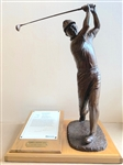 "SIGNED BY ARNOLD PALMER BRONZE STATUE BY KARL FARRIS, LTD. ED. #4/225. IT IS 17"" HIGH ON THE BASE, 9"" X 12"""