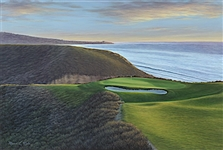 "TORREY PINES GOLF COURSE HOLE #3, ORIGINAL OIL PAINTING BY MARCI RULE. SIZE 20"" X 30"""