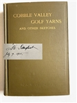 "SIGNED BY A.W. TILLINGHAST 1915 FIRST ED. BOOK ""COBBLE VALLEY GOLF YARNS AND OTHER SKETCHES"""