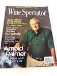 ARNOLD PALMER SIGNED COMPLETE WINE SPECTATOR MAGAZINE DATED SEPT. 30, 2004.