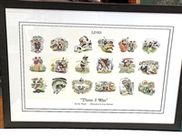 ONE-OF-KIND FRAMED ILLUSTRATIONS PRESENTED TO BEN WRIGHT FROM THE LINKS MAGAZINE. FRAMED