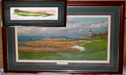 "SET OF 2 ARTIST PROOF, 18TH HOLE ""HARBOUR TOWN GOLF LINKS"" BY LINDA HARTOUGH. LTD. ED. No. 500/850"