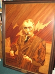 "ONE-OF-KIND ORIGINAL HAND INLAID MARQUETRY PORTRAIT OF SAMUEL RYDER 40"" X 52"""