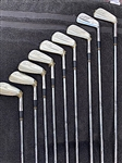 ARNOLD PALMER 9 ORIGINAL IRONS, LIMITED EDITION (#269/ 1000) NEVER USED, STILL WITH PLASTIC WRAPPERS