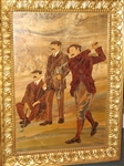"""THE GREAT TRIUMVIRATE""- EUROPEAN MARQUETRY, HARRY VARDON, JAMES BRAID AND J.H. TAYLOR. 40"" X 52"""