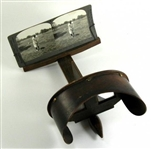 1910S-1920S WOODEN STEREO VIEWER WITH ORIGINAL SET OF 20 PHOTOGRAPHIC CARDS INCLUDING BOBBY JONES