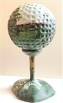 "HAND PAINTED ONE-OF-KIND GOLF BALL 19.5"" HIGH WITH PINEHURST IMAGES. EXTREMELY DETAILED"