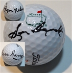 COLLECTION OF 3 SIGNED GOLF BALLS BY MASTERS STARTERS- SAM SNEAD, GENE SARAZEN AND BYRON NELSON