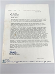 1956 SIGNED LETTER BY HUGH M. HEFNER ON PLAYBOY LETTERHEAD TO SAM SNEAD, ASKING TO WRITE A PIECE FOR THE MAGAZINE