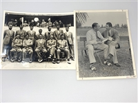 ORIGINAL 1935 RYDER CUP TEAM PHOTO WITH WALTER HAGEN, CAPTAIN AND PHOTO OF WALTER HAGEN WITH FRED CORCORAN