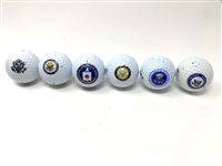 COLLECTION OF 6 GOLF BALLS WITH OFFICIAL SEALS. PRESIDENTIAL, CONGRESS, SENATE, VP, CENTRAL INTELLIGENCE BUSH SENIOR